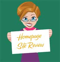 Site Review - Homepage